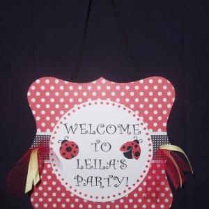 ladybug Welcome Sign